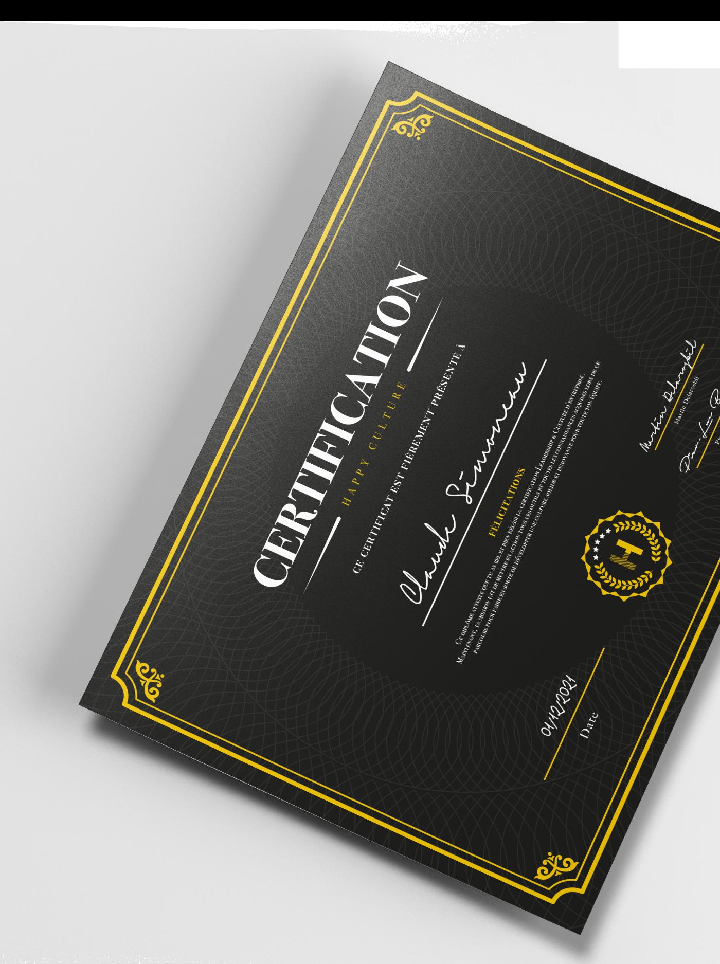, Certification, Academie Happyculture, Academie Happyculture